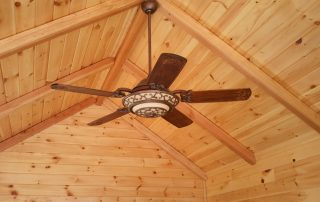 wood ceiling and wall